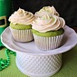 Spinach Cupcakes with Irish Cream Frosting