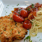 Parmesan Crusted Chicken with a Chilli Cherry Tomato Sauce - Recipe