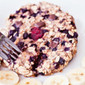 Single Serving Blueberry Oat Cake – Vegan, Gluten-Free, Sugar-Free – Baked Oatmeal