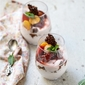 No Bake | Strawberry & Cape Gooseberry Quark Mousse … delicious eggless dessert in season #vegetarian