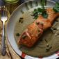 Salmon in Pipián Verde {she made, ella hace}