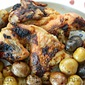 Basic Whole Roast Chicken and Potatoes