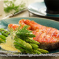 Grilled Salmon Steak in Cream Butter Sauce