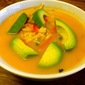 Asian Style Yam Noodle Soup w/ Homemade Sriracha Sauce
