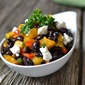 Celebrating Spring with Black Bean, Mango and Goat Cheese Salad
