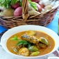 Kerala Sardine Curry With Green Brinjals.