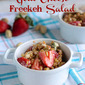 Strawberry & Goat Cheese Freekeh Salad