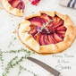 Honey, thyme and plum crostata