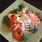 Tri-Color Raw Noodle Salad w/ Creamy Hot'n'Sweet Dressing