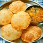 Bread Bhatura with Aloo Ki Bhaji