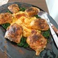 Pepper Thyme Chicken over Polenta with Bitter Greens, from Laurie Colwin