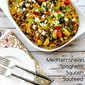 Mediterranean Spaghetti Squash Sauteed with Vegetables and Feta (Low-Carb, Gluten-Free)