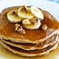 Pancakes with fresh bananas