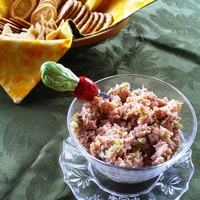 Mom's Deviled Ham Spread / Sandwich Filling (for Easter ham leftovers!)