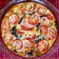 Caramelized Onion, Kale, Amish Swiss and Tomato Crustless Quiche