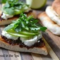 Fig Butter, Goat Cheese and Arugula Flatbread