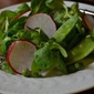 Spring Salad of Mâche, Peas, and Radishes with a Lemon-Walnut Vinaigrette