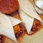 Chorizo Burritos with Chipotle Chile Sauce