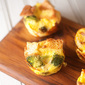 Broccoli, Ham, and Cheese Muffin Tin Strata