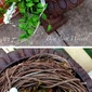 ENTERTAINING: Prep Day 3: Outdoor Nest Wreaths, Fabric Flag Garland and Tissue Pom Poms