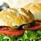 Jalapeno Chicken Salad Bacon Club on a Homemade Pretzel Bun