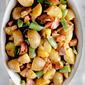 Dijon Potato Salad with Crispy Ham