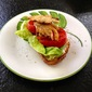 "Oyster Mushroom ""BLTs"" with Basil Mayonnaise"