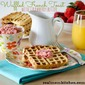 Waffled French Toast with Strawberry Butter