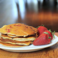 Strawberry Sour Cream Pancakes