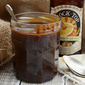 Salted Honey-Bourbon-Beer Caramel Sauce #BeerMonth