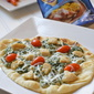 creamy garlic, spinach and chicken flatbread