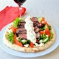 Souvlaki Steak with Lemon Chive Tzatziki