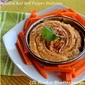 Roasted Red Bell Pepper Hummus and a Cilantro Variation