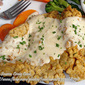 Fried Chicken Steak with Pepper Gravy