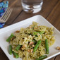 Pesto and Walnut Pasta with Green Beans