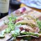 Seared Ahi Tuna Tacos with DaVinci Chianti
