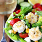 Santorini Salad with Cucumber-Basil Yogurt Dressing