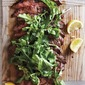 Soy-Lemon Flank Steak with Arugula