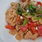 Farfalle with Roasted Vegetables and Crispy Chicken