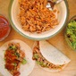 Pulled-Chicken Tacos with Loaded Guacamole