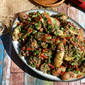 Lentil and Fingerling Potato Salad w/ Warm Bacon Dressing #SundaySupper