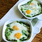 Baked Eggs and Asparagus with Parmesan (Low-Carb, Gluten-Free)