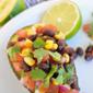 Black Bean Salsa-Stuffed Avocados