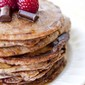 Clean Eating Raspberry & Dark Chocolate Chip Pancakes