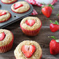 Whole Wheat Strawberry Banana Muffins