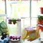 15 Flavored Water Recipes and a Mighty Nest Giveaway