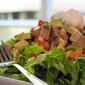 Chopped Salad with Pork, White Beans, Avocado and Cajun Lime Dressing