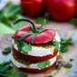 Green Chile Pesto Caprese Salads Recipe