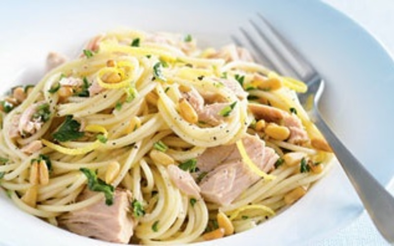 tuna pasta olive oil lemon