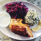 Chicken Breasts with Spiced Pickled Cabbage